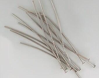 2 inch 24ga Black Oxide Headpins 42935 (144) 24 gauge Black Head Pins, Jewelry Findings, Head Pin Wire, Thin Head Pins, Long Head Pins