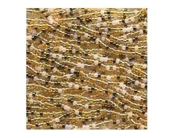Czech Seed Beads 11/0 Honey Butter Mix 17685 (6 strand hank) Glass Seed Beads, Precoisa Beads, Round Seed Beads, Rocaille Bead, Glass Bead