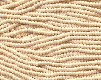 Czech Seed Beads 11/0 Shell Eggshell 31105 (6 strand hank) Glass