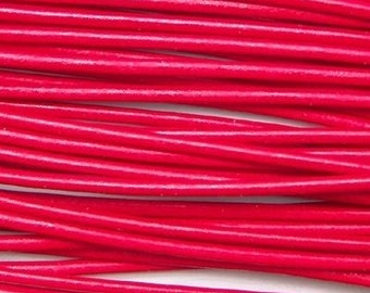 2mm Red Greek Leather Round Cord 43258 (5 meters), Round Leather Cording, Red Greek Leather Cord, Supple Leather Cord, Greek Cording