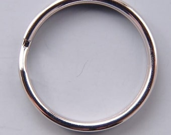 24mm Round Key Split Rings 42132 (24) Silver Round Key Rings, Silver Key Rings, Round Keyrings, Lanyard Rings, Metal Key RIngs, 1 inch Rings