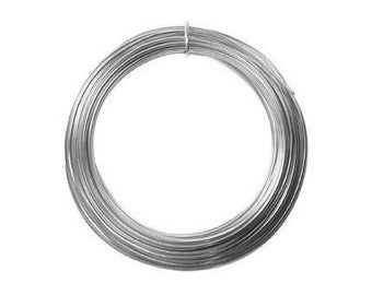 Anodized Aluminum Wire 12 Gauge Silver 41263 , Jewelry Wire, Craft Wire, Round Wire, Aluminium Wire, Soft Temper Wire, Anodized Wire