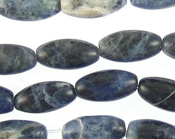 Sodalite 12mm Rice Beads 71679