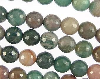 Fancy Jasper 10mm Faceted Round Gemstone Beads 78252