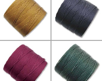 S-Lon Bead Cord Dark Mixture 0.5mm Diameter 28575 (4 spools) Braiding, Crochet, Stringing, Macrame