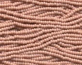 Czech Seed Beads 11/0 Opaque Pink 31069 (6 strand hank) Glass