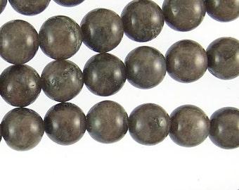 Larvikite Beads 8mm Round Gray 71955