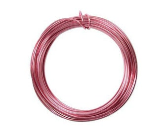 Anodized Aluminum Wire 12 Gauge Pink 41270 , Jewelry Wire, Craft Wire, Round Wire, Aluminium Wire, Soft Temper Wire, Anodized Wire