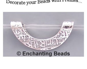 Textured Bead Frame for 8mm Beads Sterling 42815 (2)