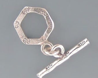 Karen Hill Tribe Silver Small Toggle Clasps T195 (2)