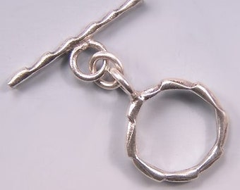 Karen Hill Tribe Silver Edged Toggle Clasp T155 (1)