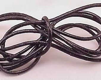 1mm Leather Cording Black Round 10054 (5 yards),  Jewelry Cording, Necklace Cord, Bracelet Cord, 1mm Cording, 1mm Leather Cording