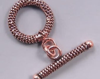 Copper Double Twist Toggle Clasps 42705 (6)