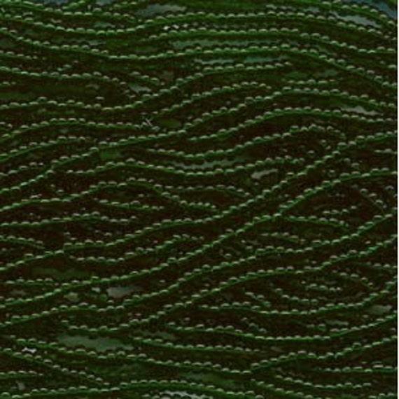 Czech Seed Beads 8/0 Transparent Green 31416