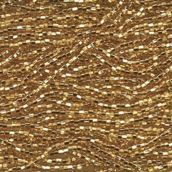 Czech Seed Beads 11/0 Gold SIlver Lined 31025 (6 strand hank) Glass