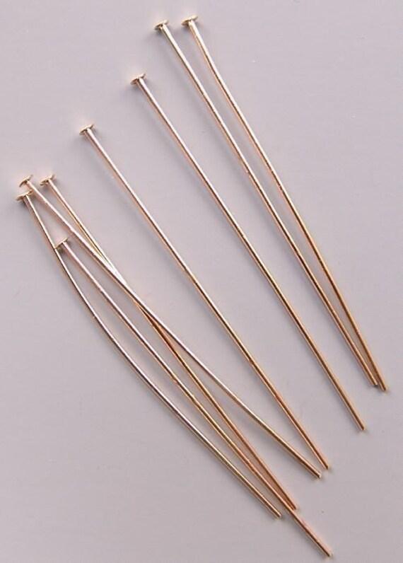 2 inch 24ga Gold-Plated Headpins 42942 (144)