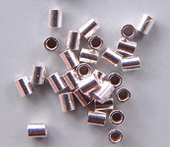 2mm Crimps Sterling Silver 42110 (100) For up to .020in Wire Tubular Tube