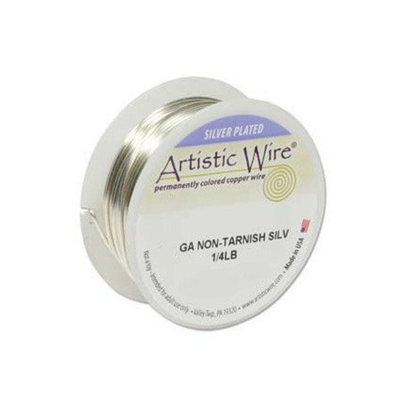 Artistic Wire 26 Gauge Tarnish Resistant Silver 1/4lb 41721 Silver Round Wire, Jewelry Wire, Craft Wire, Silver Plated Wire, Wire Wrapping