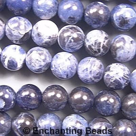 Sodalite 8mm Round Beads Blue 78520