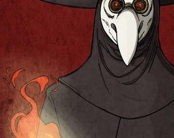 The Plague Doctor 8x10 Giclee Illustration Print
