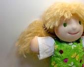 Waldorf 12 inch green eyes blonde mohair hair Free Shipping