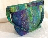 Blue and Apple Green Batik Murphy Bag