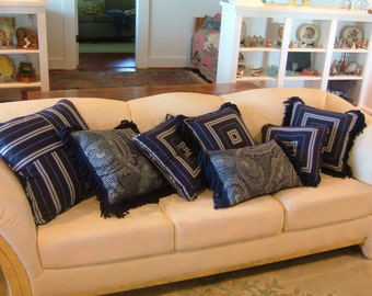 BLUE PILLOWS Free Shipping