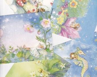 fairy postcards 10 cards, playful fairy cards,