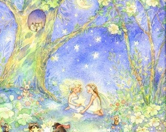 Gathering Stars, fairy, art, print, fairy print, 8 X 10 - direct from the printer (or choose signed version)