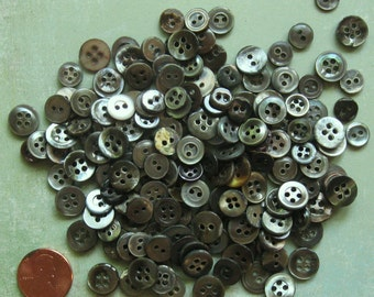 TiNy 200 PC Vintage Mother of Pearl Buttons Great for Dolls Mixed Media Jewelry Altered Art Quilting and Much More