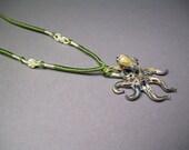 Octopus Glass Pendant