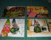 Daily Life of Woodland Gnomes Envelope and Note Card Set of 7