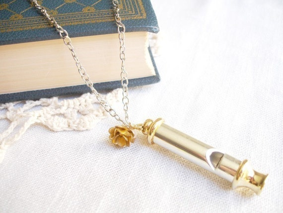 ordinary day - simple whistle necklace.