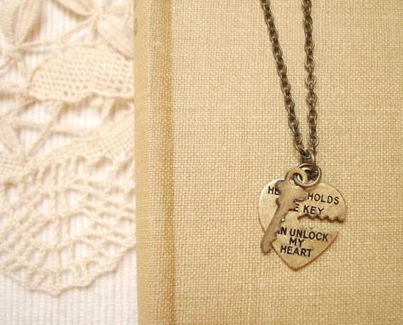 forever with you - 'he who holds the key' necklace.