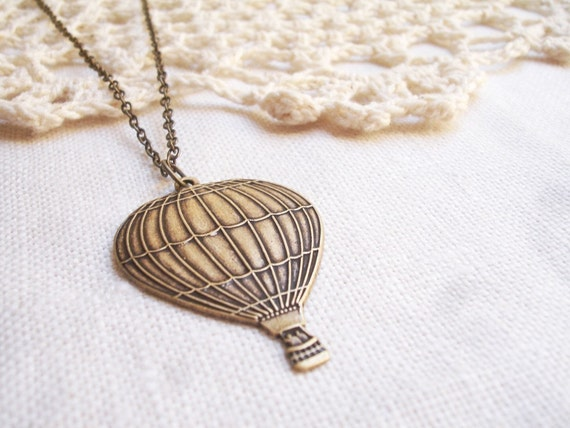 float away - hot air balloon necklace.