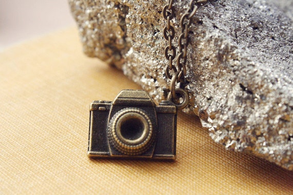 once again - tiny camera necklace.