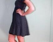 Black Glitter Skater Dress - Full Skirt