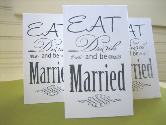 Eat drink and be married rubber stamp wedding design 5 for Wedding dress rubber stamp