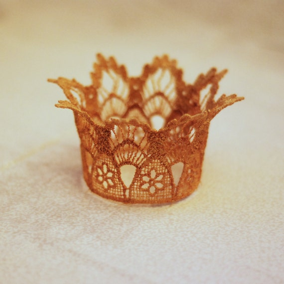 Lace Newborn Crown in GOLD Photography Prop Teeny and Sweet