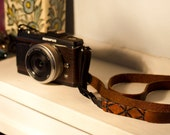 Custom Leather Camera Strap for Pen M4/3 Leica or other Digital and Film Cameras