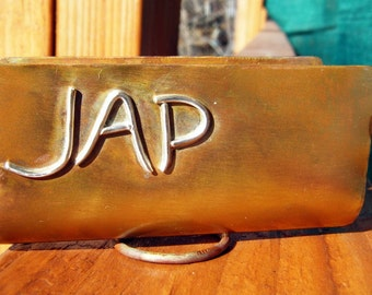 Personalized Copper Business Card Holder