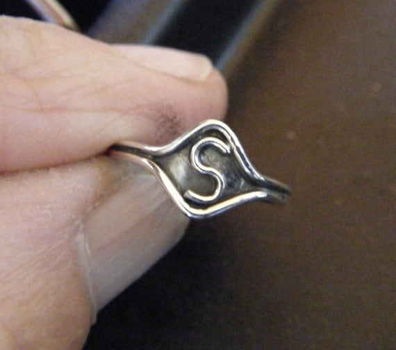 Personalized Sterling Silver Children's Ring