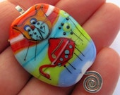 Racheli Lila - Lampwork Bead - Painted collection- A Curious Cat(1)