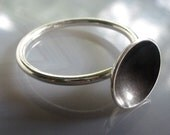 Halcyon Dark Ring - Sterling Silver