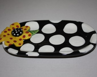 Ceraqmic Oval flower tray