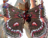 RESERVED - Beaded Cecropia MothReserved for Peter Relson