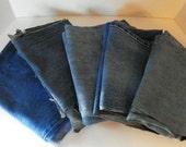 Denim Blue Jean Legs for Craft Projects Destash Supply