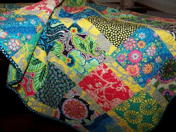 Amy Butler's Newest Collection - LARK - Throw, Lap or Crib Quilt