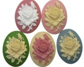 Gorgeous New Colors - Silhouette Rose - 40x30 - Set of 5 - One of each color