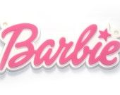Huge Barbie Flexible Plastic Charms -w/ hole for stringing on chain - -- - 50pcs